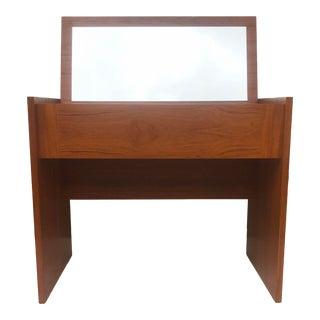 Vintage Modern Teak Vanity or Desk For Sale