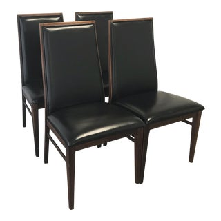 Mid-Century Milo Baughman for Dillingham Walnut Dining Chairs - Set of 4