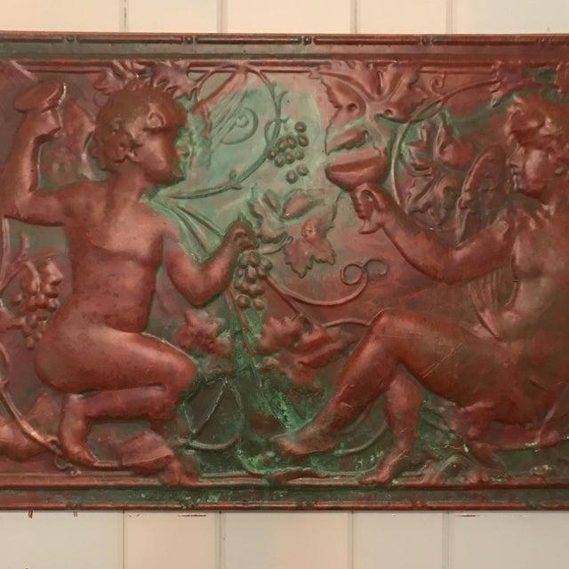 Victorian Copper Cherub Wall Panel For Sale - Image 4 of 11