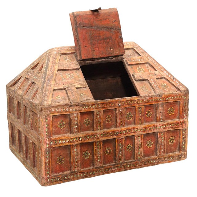 Small Teak Dowry Chest - Image 2 of 2