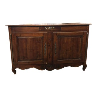 18th C. French Louis XV Cherry Wood Credenza Buffet
