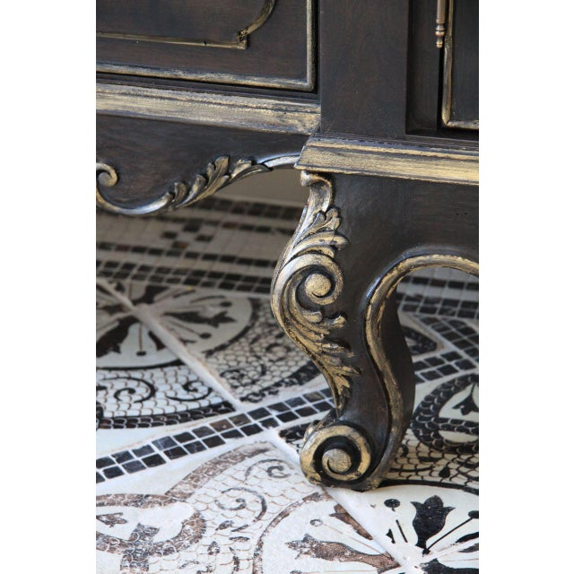 Platner & Co. Platner & Co Carbon Carved Vanity For Sale - Image 4 of 7