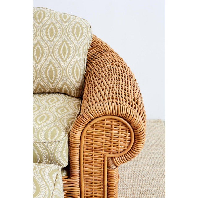 Michael Taylor Style Wicker Lounge Chairs and Ottomans For Sale In San Francisco - Image 6 of 13