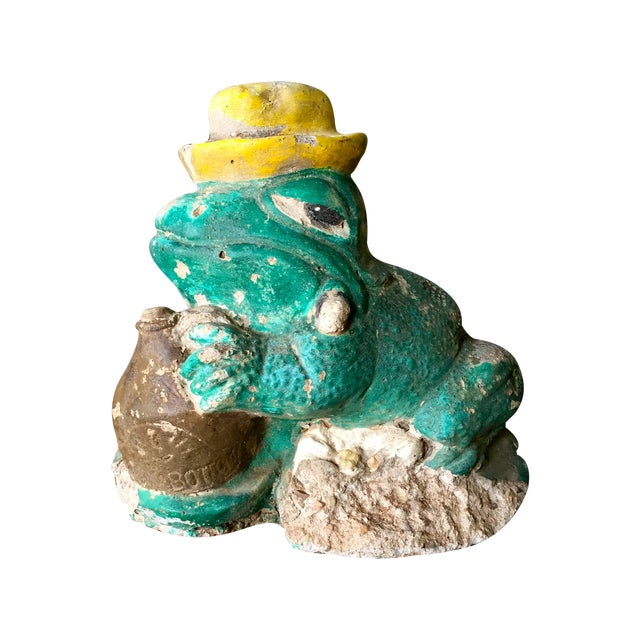Vintage Concrete Frog - Image 1 of 8