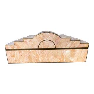 Art Deco Tessellated Stone & Brass Box