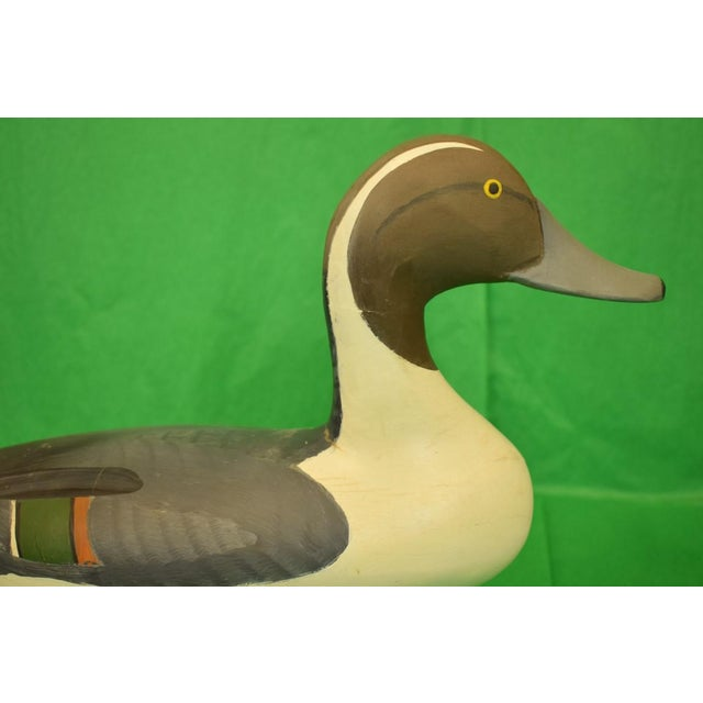 Rustic 1987 Vintage Capt. Harry Jobes Pintail Duck Decoy For Sale - Image 3 of 7