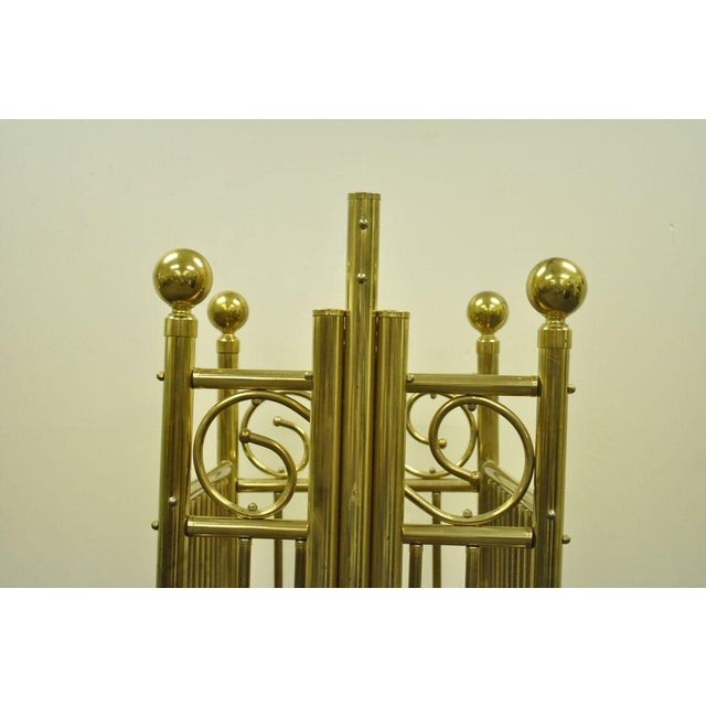 Metal Vintage Victorian Brass Infant Cradle For Sale - Image 7 of 13