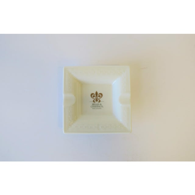 Villeroy & Boch French White and Gold Porcelain Dish or Ashtray For Sale - Image 4 of 8