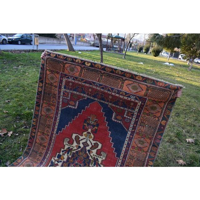 Vintage Red Turkish Taspinar Rug 4'3'' X 7'10'' For Sale - Image 10 of 12