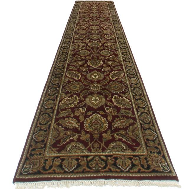 "RugsinDallas Persian Style Wool Runner - 2'6"" X 12'5"" - Image 2 of 2"