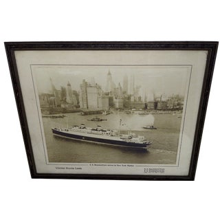 S.S. Manhattan Arrives in New York Photo For Sale
