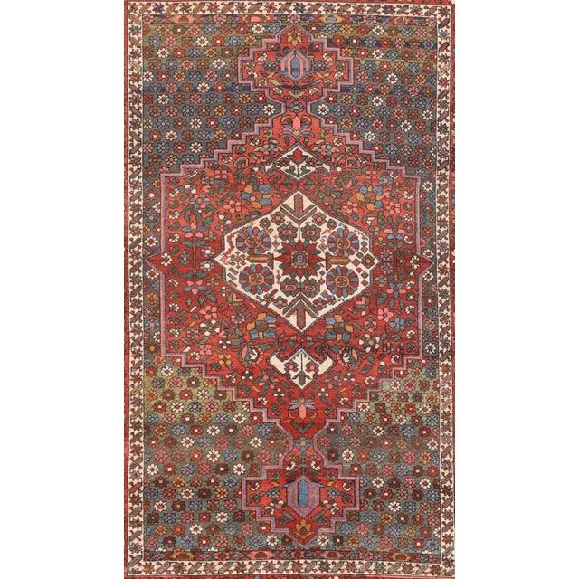 Persian Semi Antique Hand Made Bakhtiari Persian Rug For Sale - Image 3 of 5