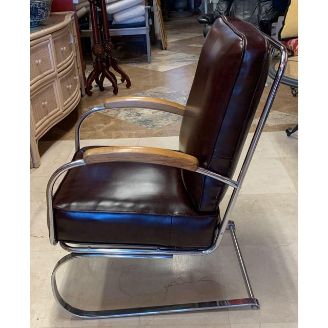 1940s Kem Weber Style Spring Lounge Chair For Sale - Image 5 of 13