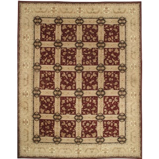 "Pasargad Sino Tabriz Silk Highlighted & Wool Rug - 12' X 15'4"" For Sale"