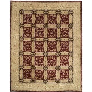 "Pasargad Sino Tabriz Silk Highlighted & Wool Rug - 12' X 15'4"" For Sale"
