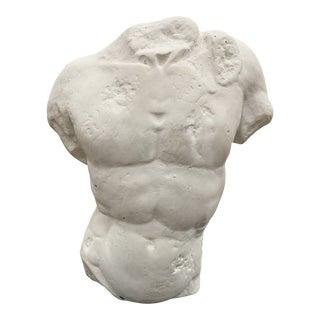 Male Nude Torso on Acrylic Base Sculpture For Sale