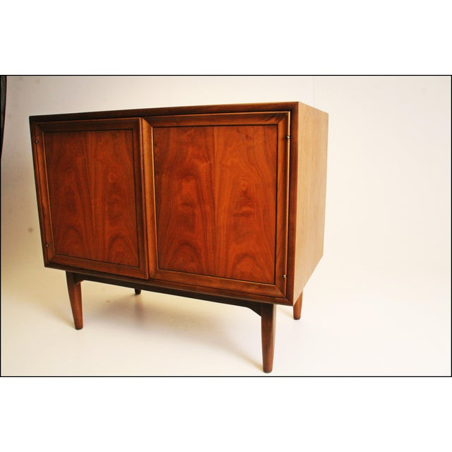 Mid-Century Modern Drexel Wood Record Cabinet - Image 9 of 11