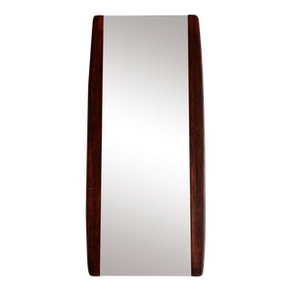 1950s Mid Century Modern Walnut Wall Mirror For Sale