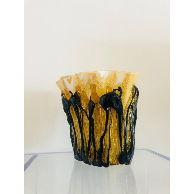Mid-Century Murano Glass Vase For Sale - Image 4 of 10
