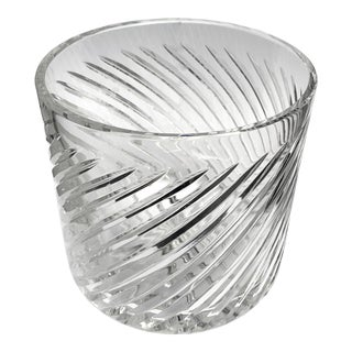 Vintage English Crystal Ice Bucket For Sale