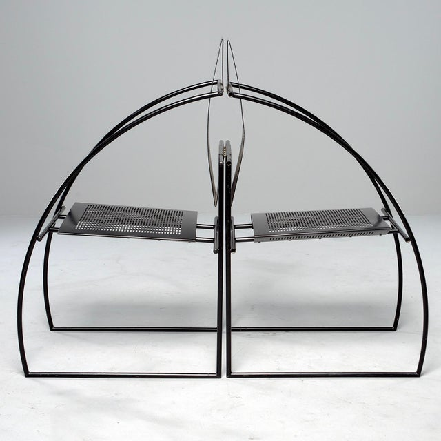 Set of Eight Alias Italian Mario Botta Quinta Op Art Chairs For Sale - Image 9 of 13