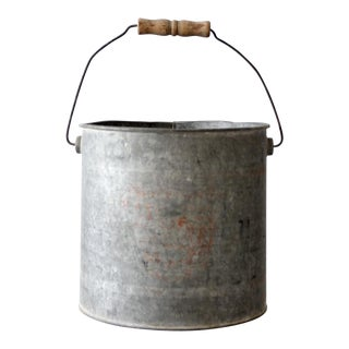 Vintage Galvanized Bucket For Sale