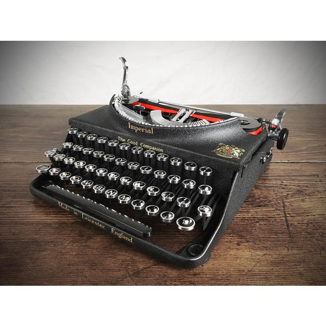 Vintage 1930s Art Deco Styled Imperial 'Good Companion' Portable Typewriter, Fully Refurbished, Impeccable - Image 9 of 9