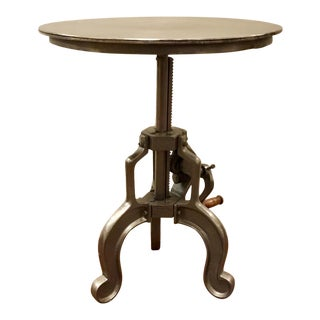 Industrial Interlude Home Adjustable Savio Side Table