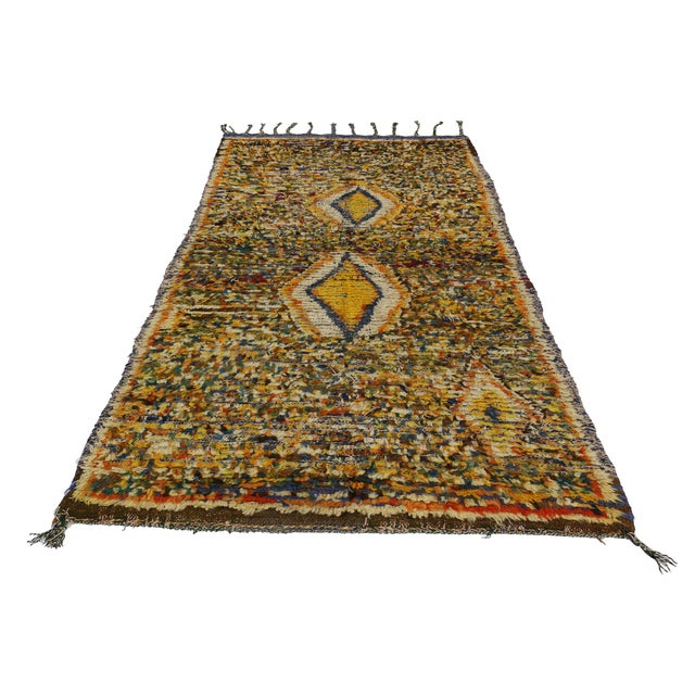 "Vintage Berber Tribal Moroccan Rug - 3'5"" x 5'6"" - Image 2 of 2"
