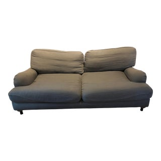 Restoration Hardware English Roll Arm Upholstered Loveseat For Sale