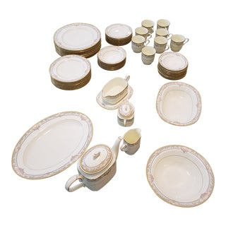 "1980s Vintage Noritake ""Barrymore "" China - 55 Pieces For Sale"