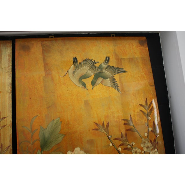 Vintage Decorative Chinese Chinoiserie Wall Panels, a Pair For Sale In Dallas - Image 6 of 13