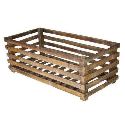 Vintage Handcrafted Exotic Bamboo Crate - Image 1 of 4