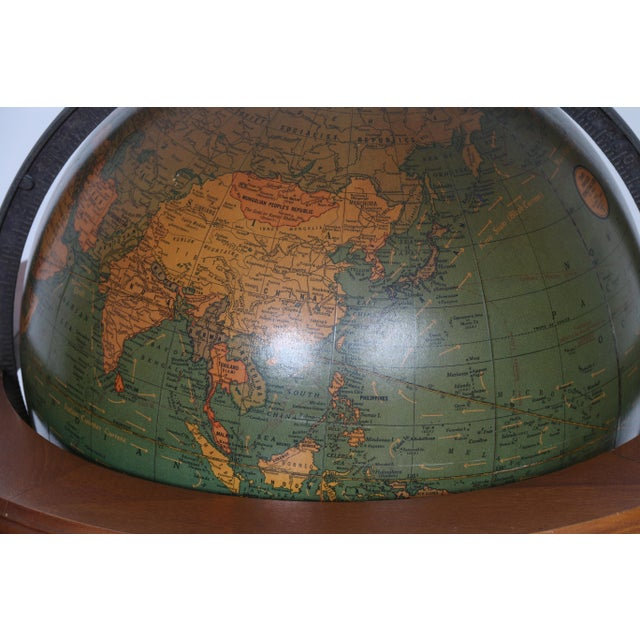 1940's Globe and Stand - Image 7 of 7