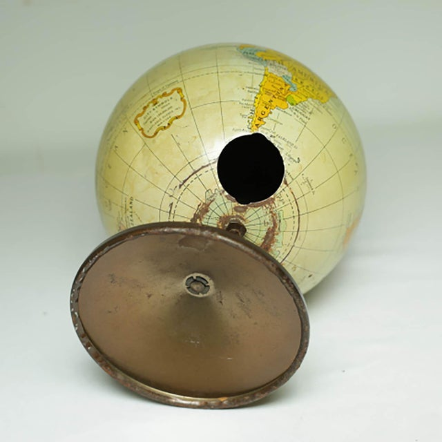 Mid 20th Century 1970s All Metal Bank/Globe For Sale - Image 5 of 6
