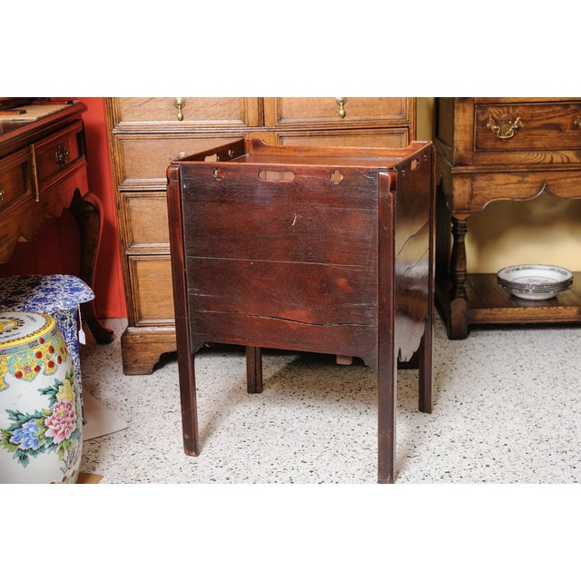 Brown Antique English Night Stand For Sale - Image 8 of 9