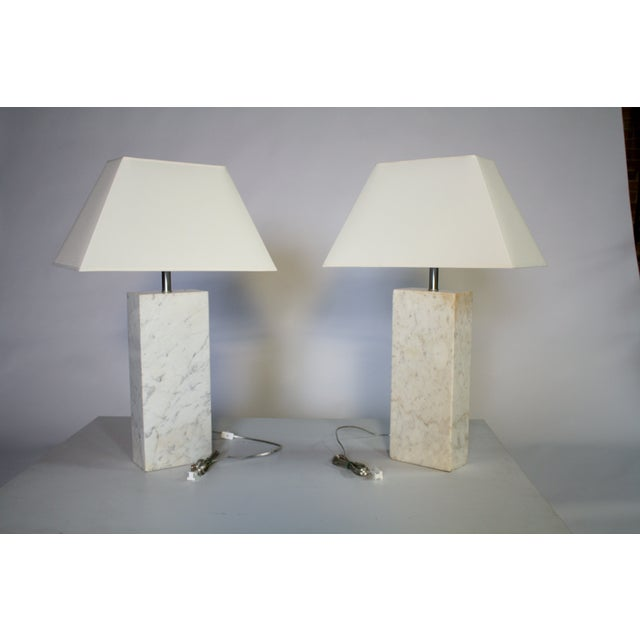 Nessen Nessen Marble Lamps - A Pair For Sale - Image 4 of 5