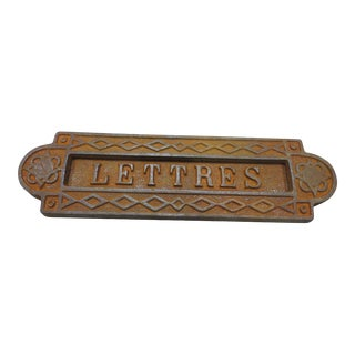 Antique French Iron 'Lettres' Slot For Sale