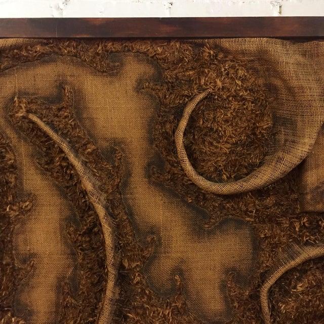 1970s Burlap Textile Art For Sale - Image 4 of 10