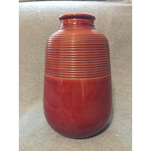 Brown Italian Mid-Century Modern Terra Cotta Vase For Sale - Image 8 of 12