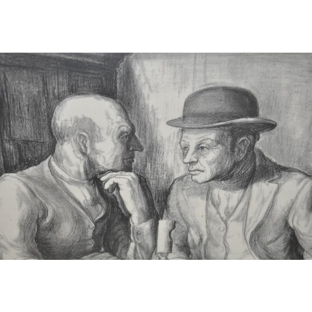 Black Charles Locke Pencil Signed Lithograph For Sale - Image 8 of 9