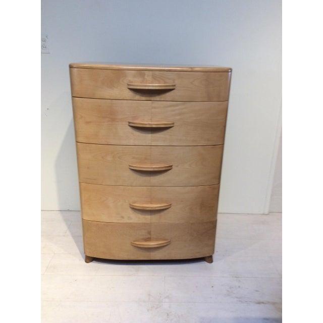 1940s Heywood Wakefield Mid-Century Modern Crescendo Highboy Dresser For Sale - Image 10 of 10