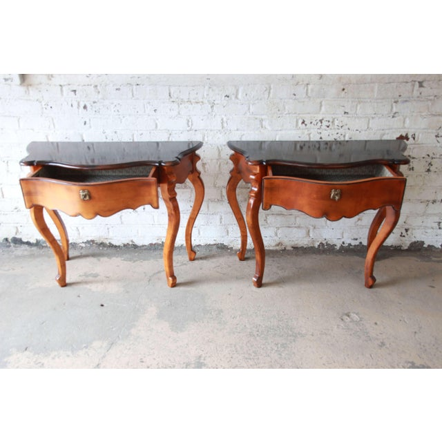 Maple Baker Furniture Milling Road French Console Tables For Sale - Image 7 of 13