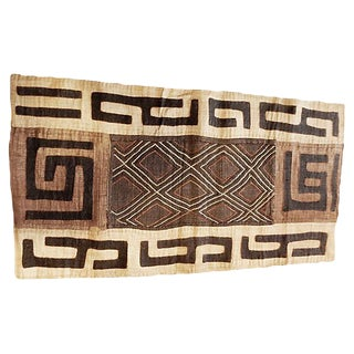 """African Kuba Textile Applique Matisse Style Dr Congo 41.5"""" by 22"""" For Sale"""