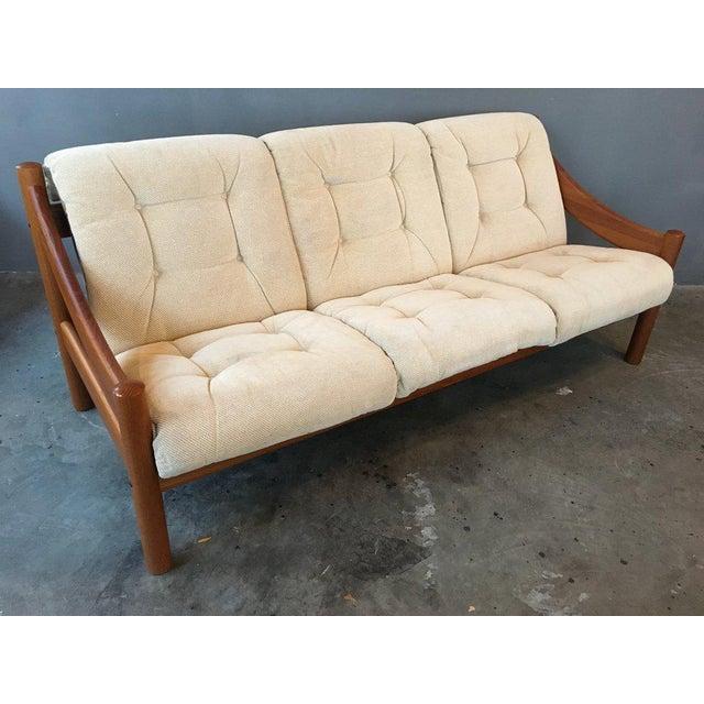 Domino Mobler Danish Modern Teak Sofa For Sale - Image 4 of 9
