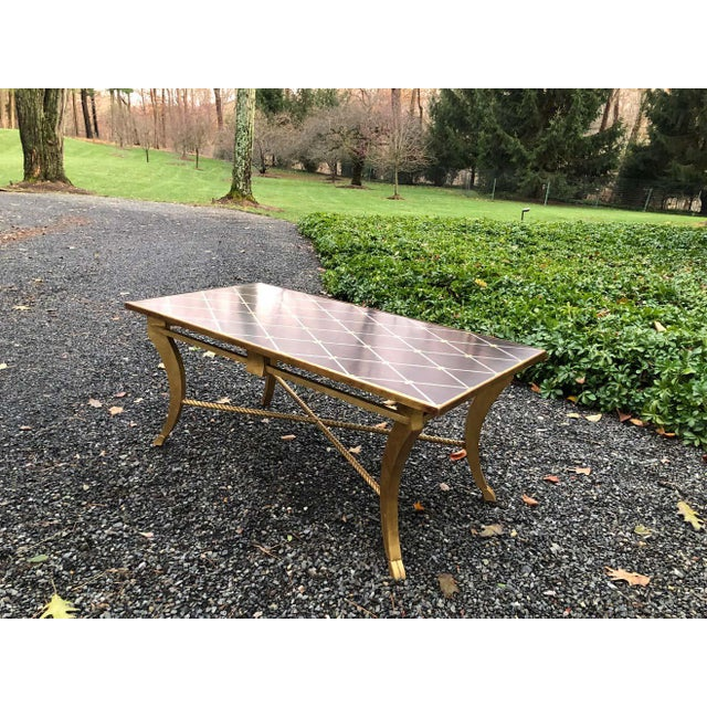 Modern Amy Howard Inlaid Wood Coffee Table For Sale - Image 3 of 12