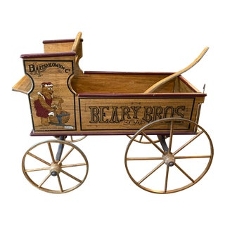 Beary Bro's Wood Display Wagon For Sale
