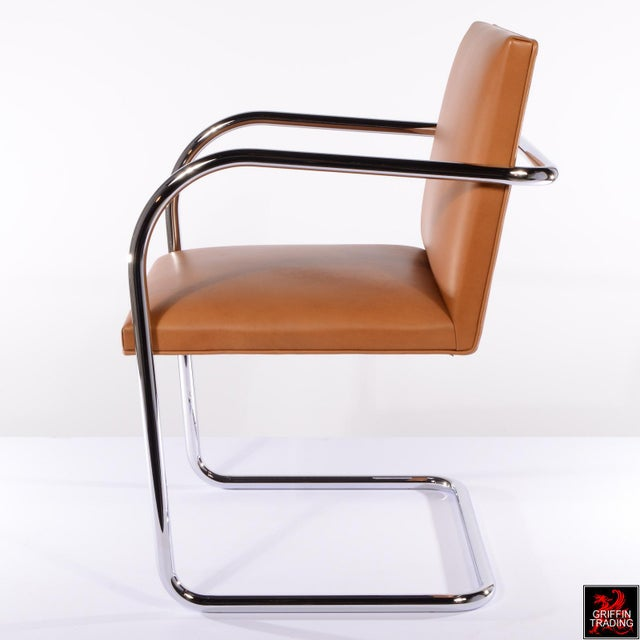 Knoll International Six Mies Van Der Rohe Brno Armchairs by Knoll For Sale - Image 4 of 13