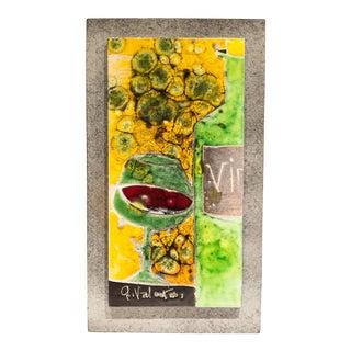 Gilbert Valentin Ceramic Plaque For Sale