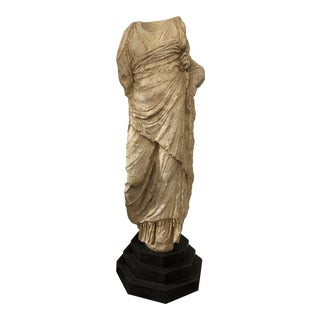 Cast Marble Greek Statue Circa 1980s Reproduction For Sale